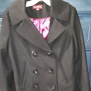 Merona wool black coat
